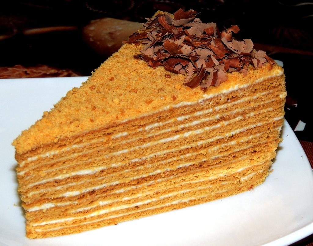 Рецепт медового торта в домашних условиях на водяной